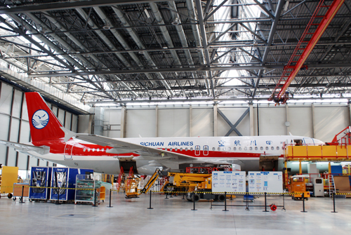 The airbus A320 series aircraft total line project in Tianjin